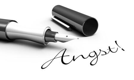 Fear - pen concept Stock Photo - 14548065