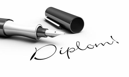 Diploma - pen concept Stock Photo - 14548068