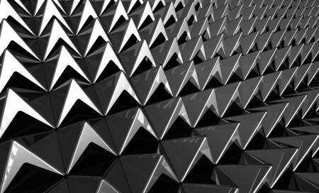 Background - Matrix Silver Pyramids Stock Photo - 14548080