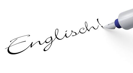interpreter: Pen Concept - English Stock Photo
