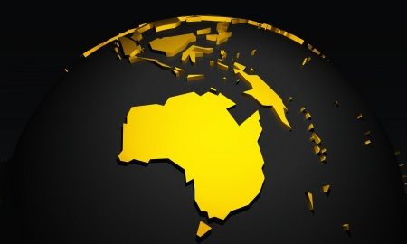 down under: Golden Planet - Down Under - Australia Black and Gold Stock Photo