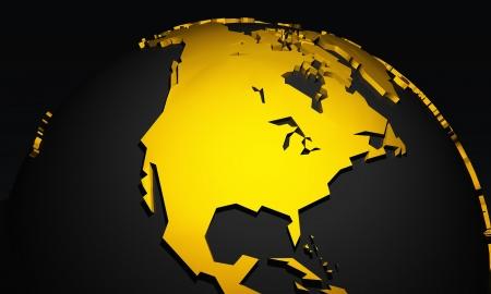 money sphere: Golden Planet - North America - USA Black Gold