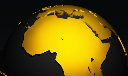 Golden Planet - Africa - Black and Gold photo