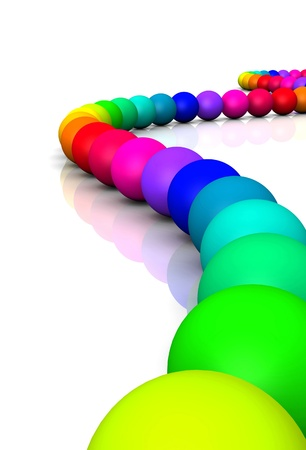 3D ball - Rainbow Serpent 01 Stock Photo - 14548107