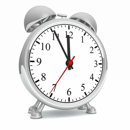 get up: Silver Alarm Clock - 11 55 Concept 01