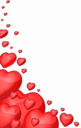 Red heart in corner - free photo