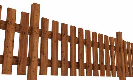 neighbor: 3D wooden fence - free dark brown 02