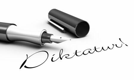 dictatorship: Dictatorship - pen concept