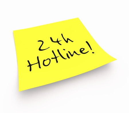 Notes - 24-hour hotline photo