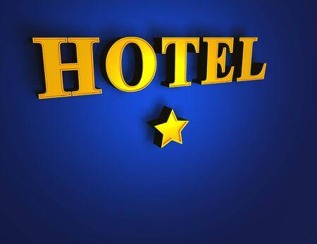luxury hotel room: Hotel Blue Gold - 1 star Stock Photo