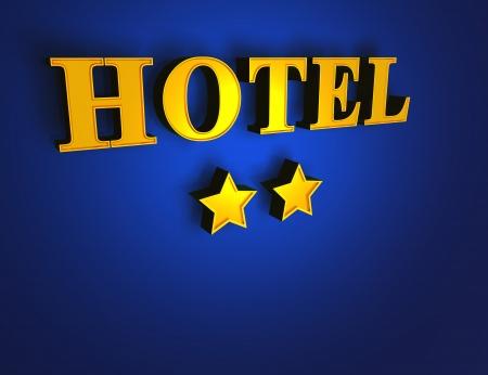 luxury hotel room: Gold Blue Hotel - 2 stars Stock Photo