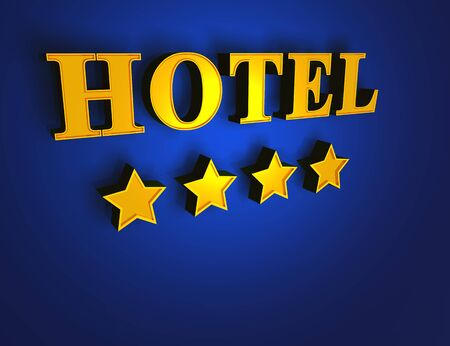 luxury hotel room: Gold Blue Hotel - 4 Stars