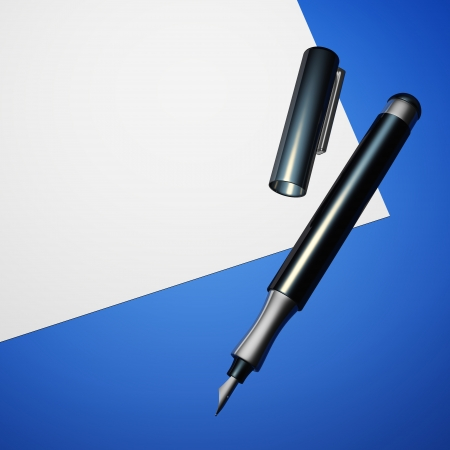 filler: Contract with blank filler - White Blue 02 Stock Photo