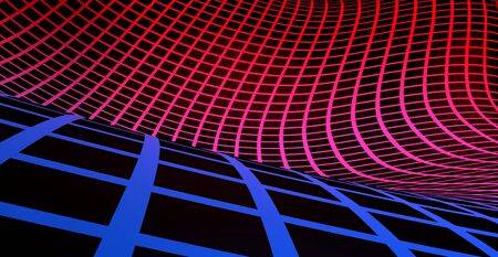 Grid background blue red on black 02 Stock Photo - 14586840