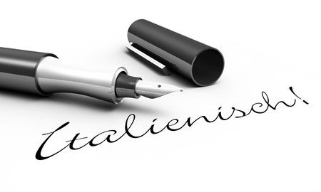 Italian - pen concept photo