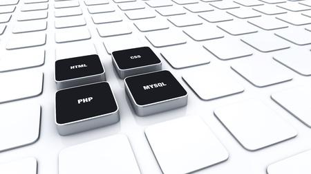 3D cubes concept Black - PHP MYSQL HTML CSS 3