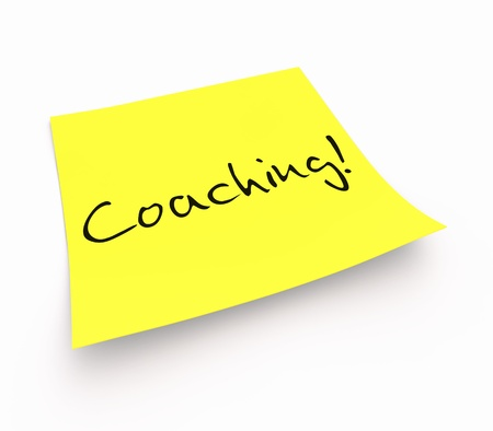 work task: Stickies - Coaching Stock Photo