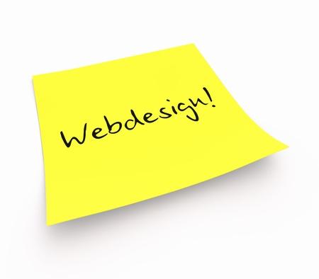 stickies: Stickies - Web Design Stock Photo