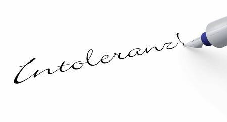 intolerance: Pen Concept - Intolerance Stock Photo