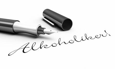 pedagogy: Alcoholics - pen concept