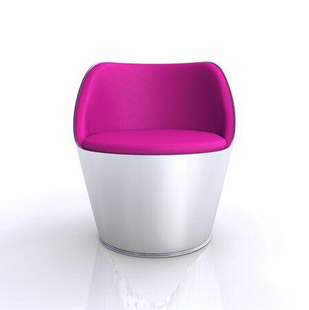 ergonomic: Silver Pink Designer chair