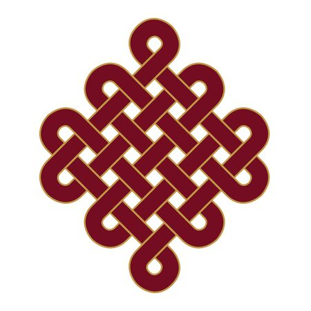 infinitely: Endless Knot - mark icon Stock Photo