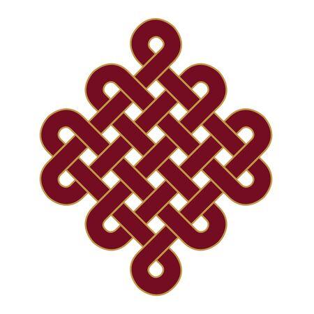 Endless Knot - mark icon Stock Photo