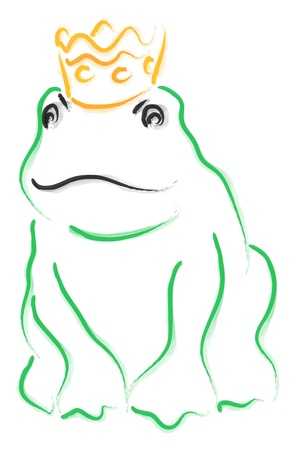 Watercolor abstract - The Frog Prince Stock Photo - 14620941