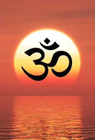 Mantra: Om Zeichen auf dem Sunset 11