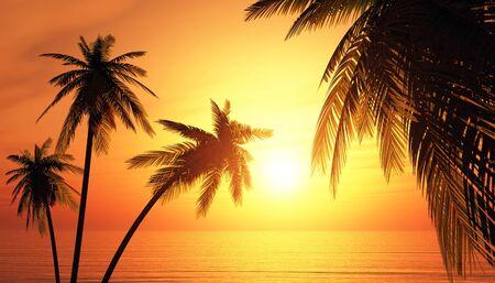 Der Traum Insel bei Sonnenuntergang