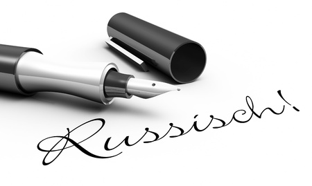 Russian - pen concept
