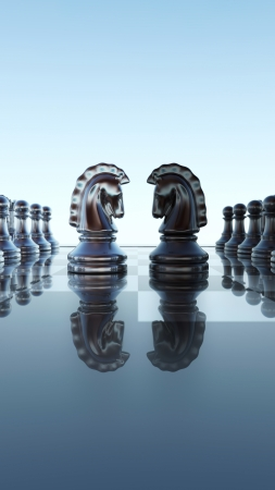 Checkerboard design - Springer duel photo