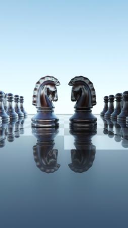 chess knight: Dise�o del tablero de damas - Springer duelo
