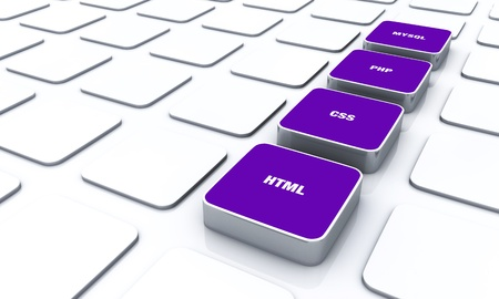 3D Designs Purple - HTML CSS PHP MYSQL 7 Stock Photo - 14620946