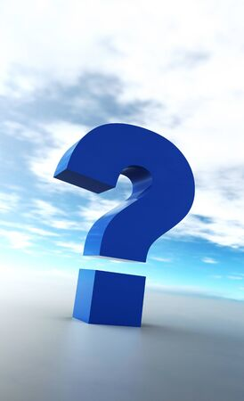 The big blue question mark Stock Photo - 14621051