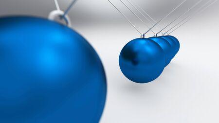 Newton Pendulum blau grau 02