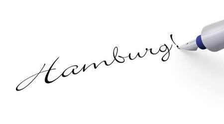 hamburg: Pen Concept - Hamburg Stock Photo