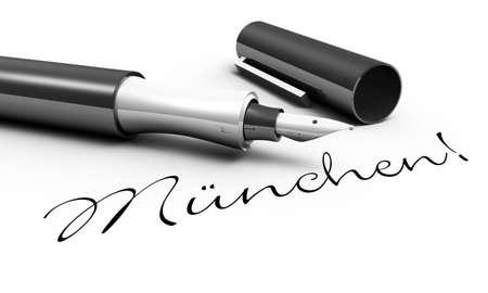 munich: Munich - pen concept Stock Photo