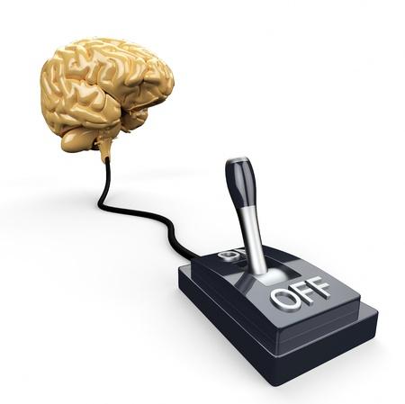 Brain Switch - ON Stock Photo