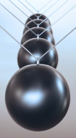 ball and chain: Black front bumper ball pendulum