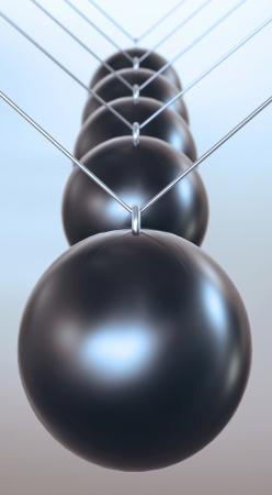 chain reaction: Black front bumper ball pendulum