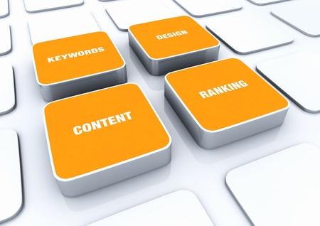 Orange 3D Designs - Design Content keywords ranking 1 Stock Photo - 14620954
