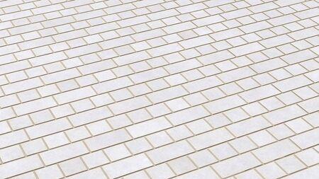 clinker tile: Textura de ladrillo blanca en diagonal