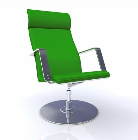 Designer executive chair green silver