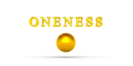 Golden Ball Oneness with 3D Text 01 Stock Photo - 14621072