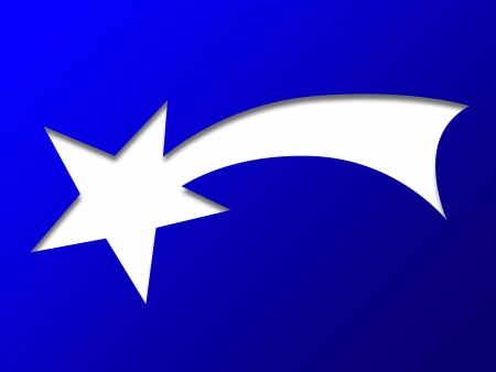 Christian symbol shooting star