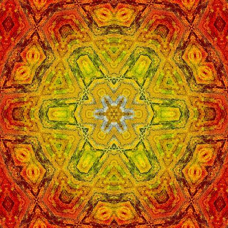 backplate: Ring of Fire Mandala 08 Stock Photo