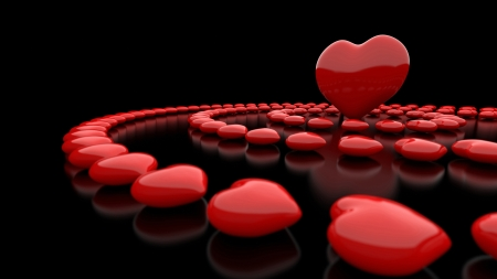 Heart circles Red Black 05 Stock Photo - 14621131