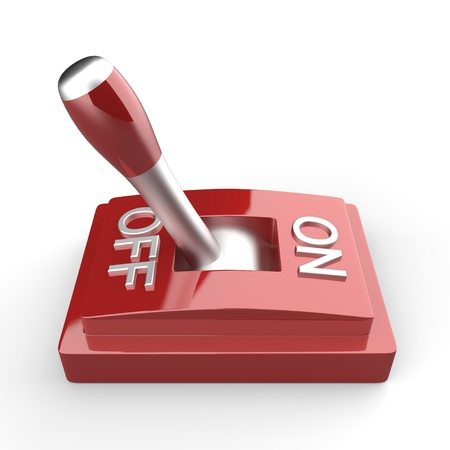 boton on off: La vista 3D lado rojo interruptor - OFF