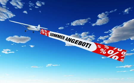 buzzer: Plane with Banner - Summer Special